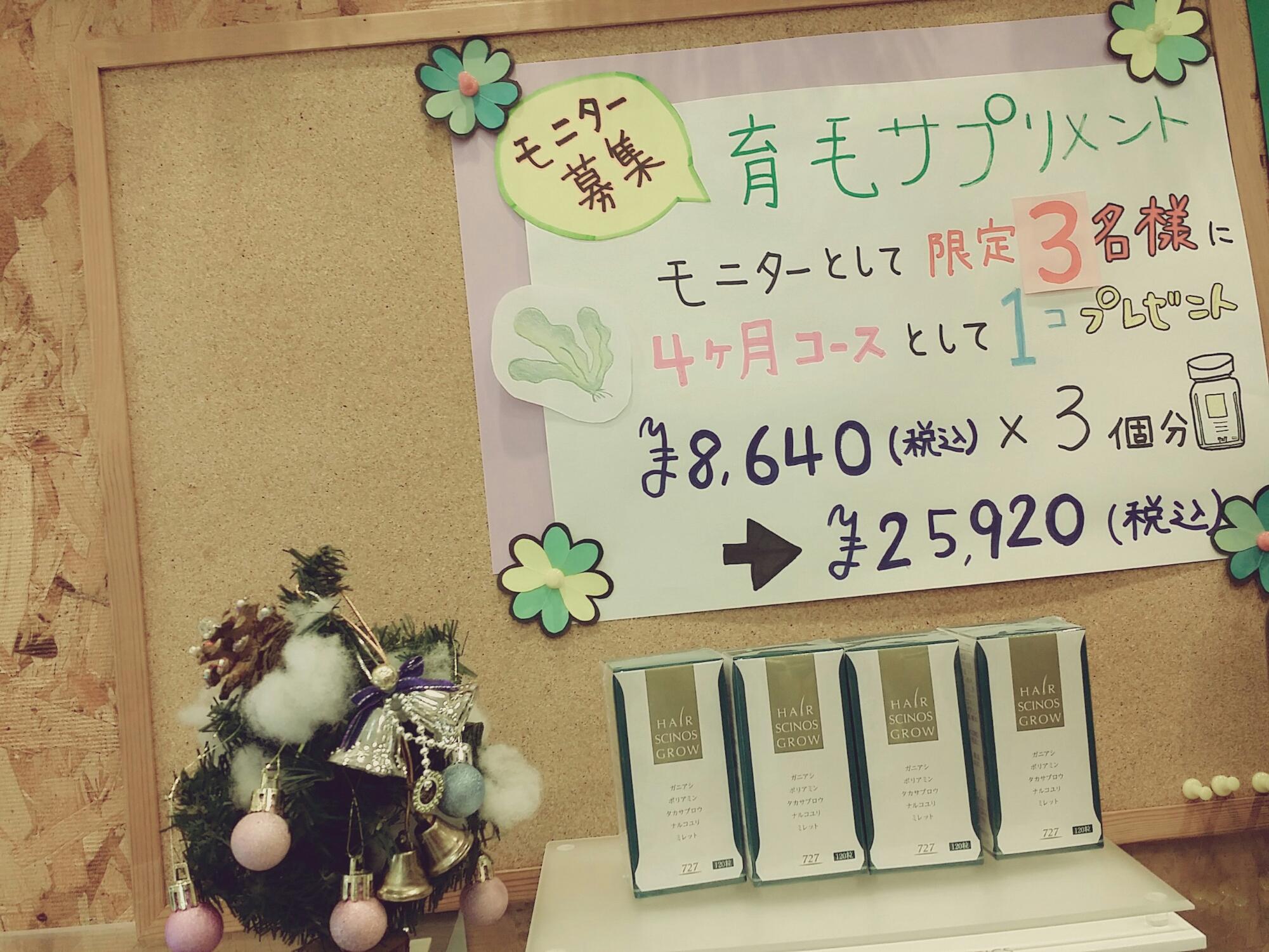 育毛サプリ(⌒‐⌒)